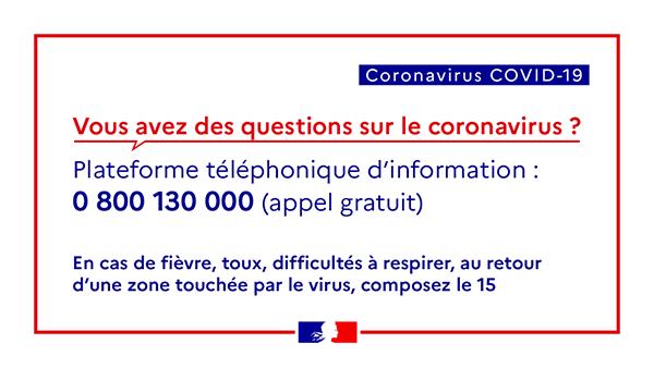 Plateforme téléphonique Covid 19
