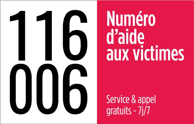 Numéro d'aide aux victimes 166 006